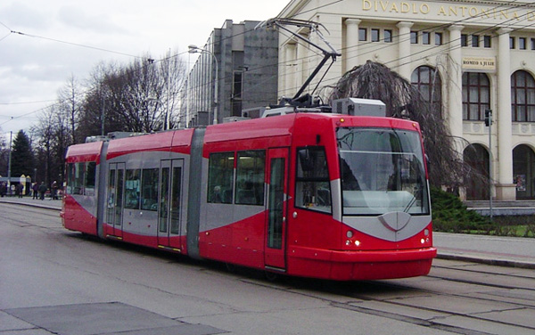 DC's Streetcars Ply the street of Plzeň, Czech Republic