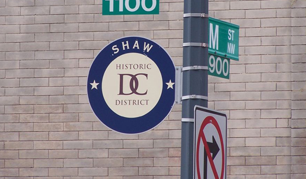 Historic District Sign in Shaw