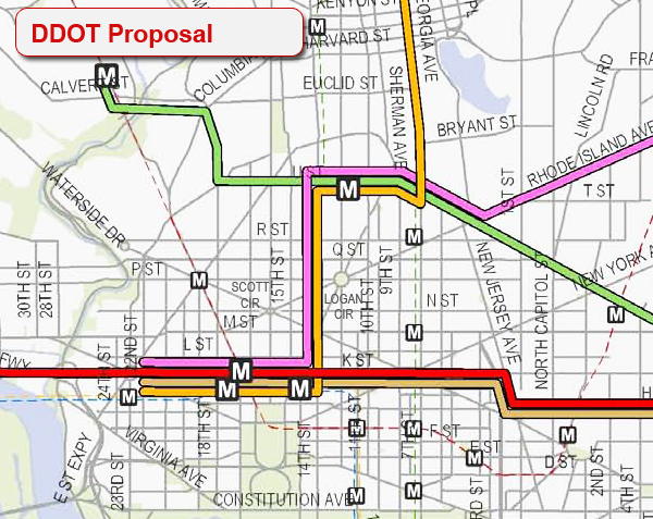 DDOT Streetcar Routes Downtown