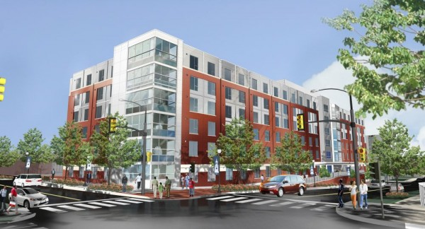 Design for the new Howard dorm at 4th and W Streets NW