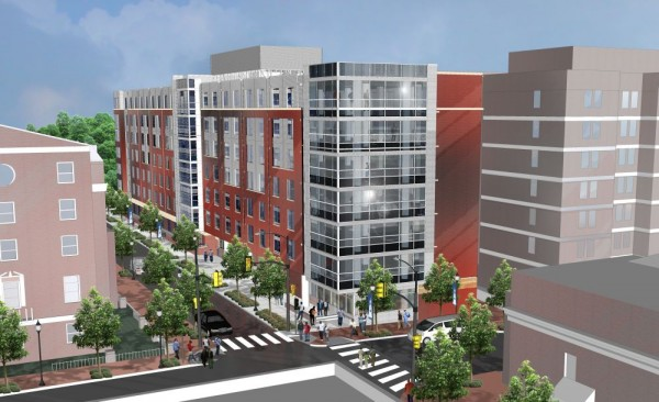 Design of the new Howard University dorm at 4th and College Streets NW