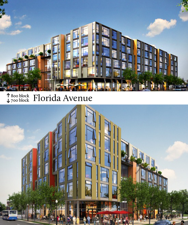Designs for the 700 and 800 blocks of Florida Avenue