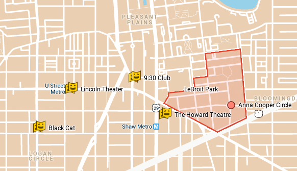 Theaters within 1 mile of LeDroit Park