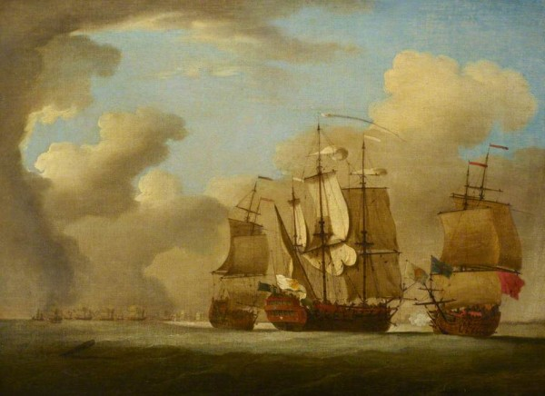 """The Capture of the Spanish Galleon St Joseph"" by Peter Monamy"